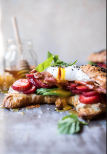 Strawberry, Basil and Brie Egg Sandwich